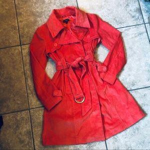 EUC bebe Orange Corduroy Trench Coat